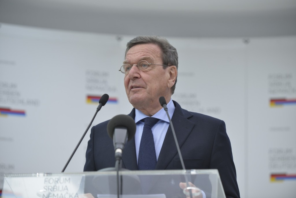 Rede von Bundeskanzler a.D. Gerhard Schröder anlässlich der feierlichen Eröffnung des Forum Serbien Deutschland